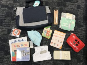 Flat lay of the Victorian Baby Bundle contents